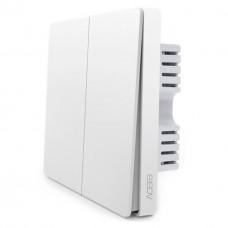 Выключатель Aqara Smart Light Switch ZigBee Version (QBKG04LM/QBKG03LM) (2 button без нулевой линии)