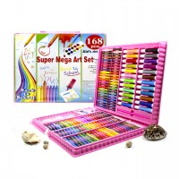 Набор для рисования Super Mega Art Set 168 предметов (Pink)